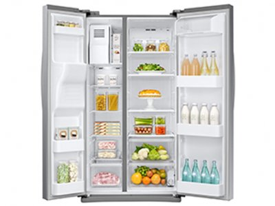 Samsung side-by-side refrigerator RS25H5223SLA 27.9 cu.ft